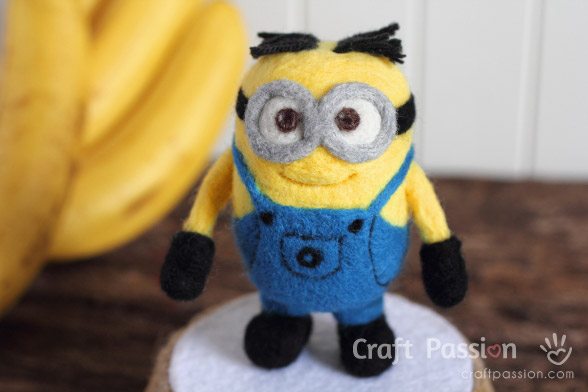 How To Needle Felted Minions Craft