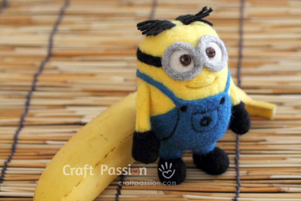 How To Needle Felted Minions