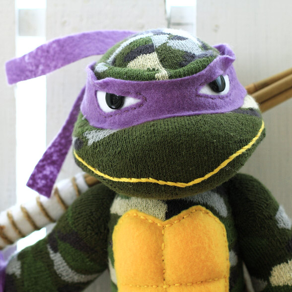 Donatello Ninja Turtle in Purple Mask
