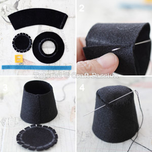 sew felt top hat