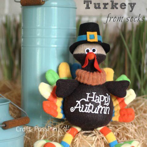 Sock Turkey sewing pattern