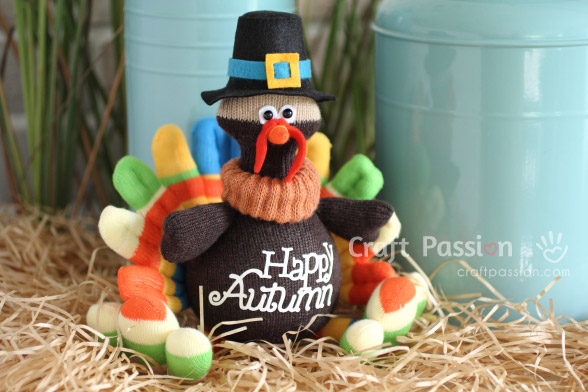 sew turkey from socks