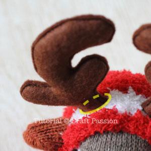 antlers sock reindeer