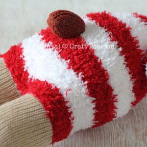 sock reindeer tail