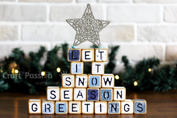 let it snow letter cubes