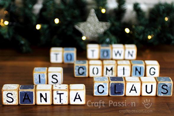 Santa Claus letter cubes