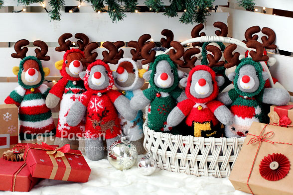 Sock Reindeer Sewing Pattern