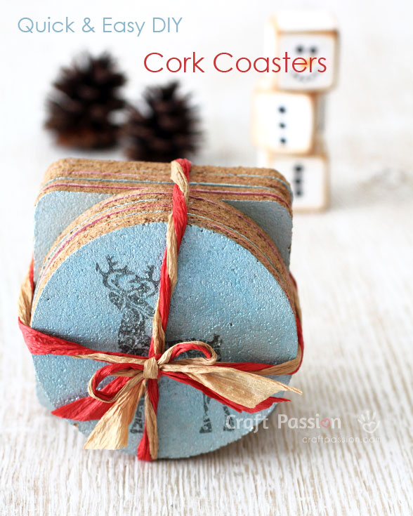 diy cork coaster