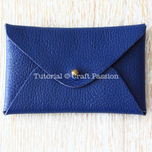 no-sew leather pouch