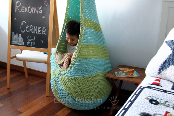 Cocoon Hanging Seat Free Knitting Pattern Craft Passion