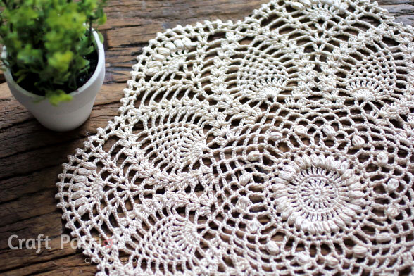 Pineapple Doily Free Crochet Pattern Craft Passion Page 2 Of 2