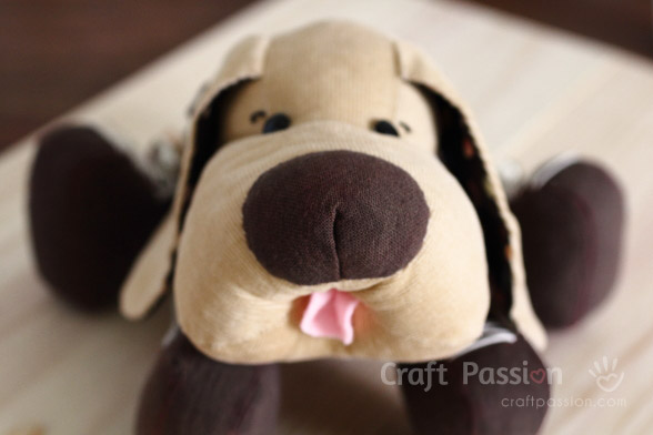 sew stuffed animal dog