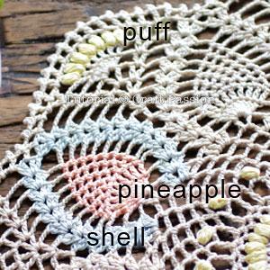 doily pattern detail