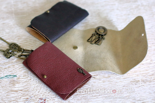 diy leather key pouch