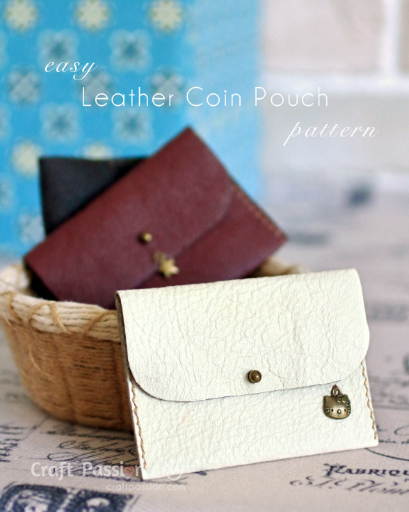 leather coin pouch pattern