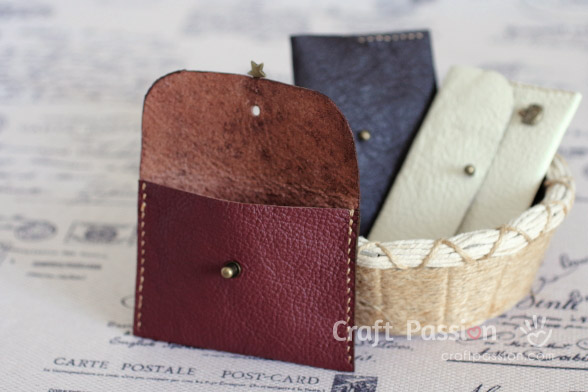 make leather coin pouch