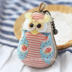 Owl Macaron Coin Purse