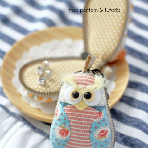 Owl Macaron Coin Purse Sewing Pattern