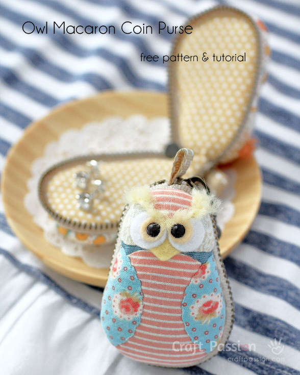 Owl Macaron Coin Purse - Free Sewing Pattern | Craft Passion – Page ...