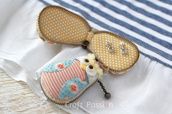 owl mini jewelry case