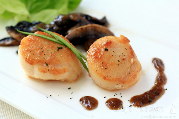 Seared Scallops With Mushrooms Recipe