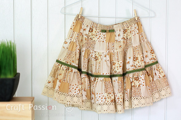 Quick 3 Tiered Skirt Sewing Pattern