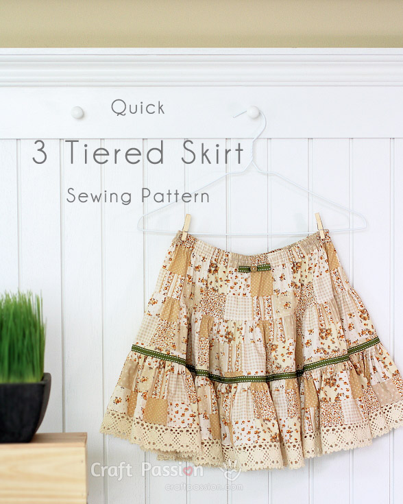 sew 3 tiered skirt