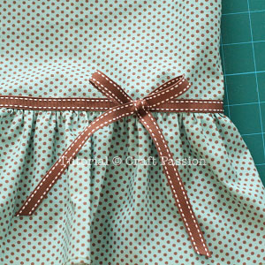 ribbon bow on skirt