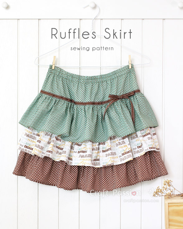 sew pattern ruffle skirt