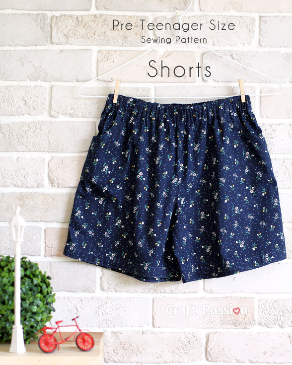 Pre Teenager Shorts Free Sewing Pattern Tutorial Craft Passion