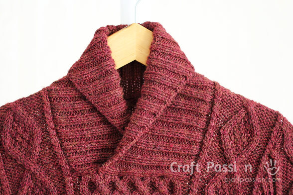 knit shawl collar pullover
