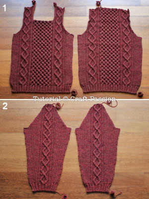 knit sweater pieces
