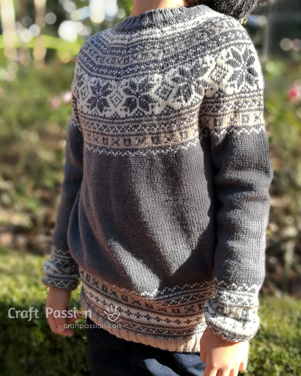 Fair Isle Yoke knit pattern