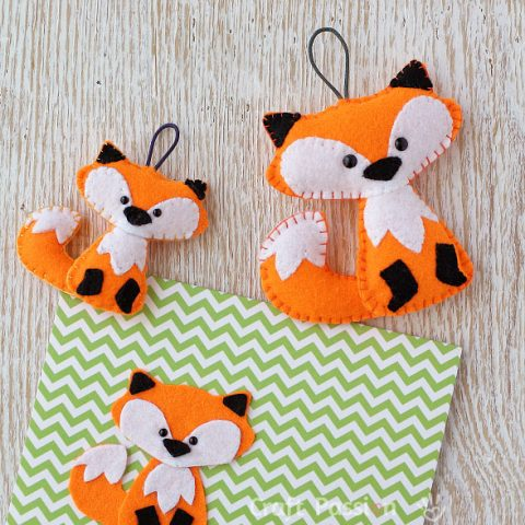 FREDDY FELT FOX SEWING PATTERN