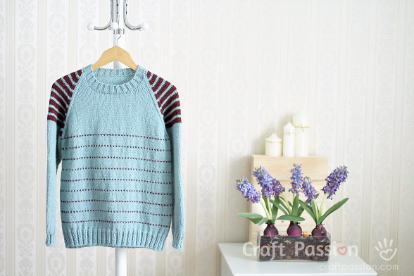 raglan sweater knitting pattern