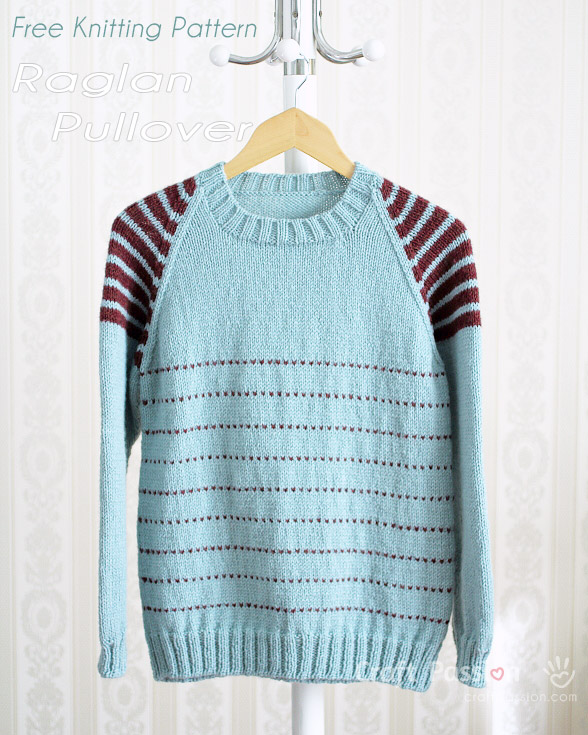 Raglan Pullover - Free Knitting Pattern | Craft Passion