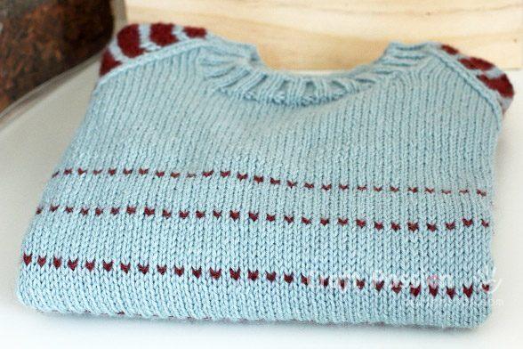 stripe raglan pullover