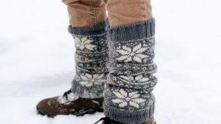 fair isle leg warmer