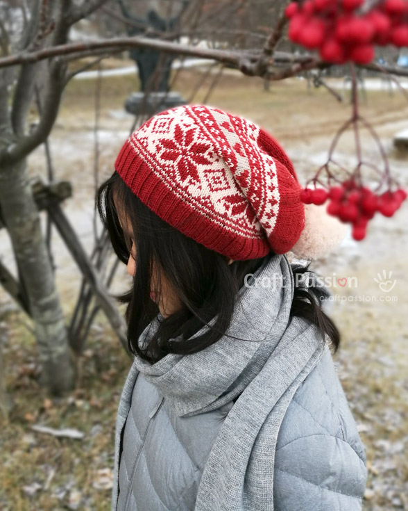 Fair Isle Beanie Free Knitting Pattern Craft Passion