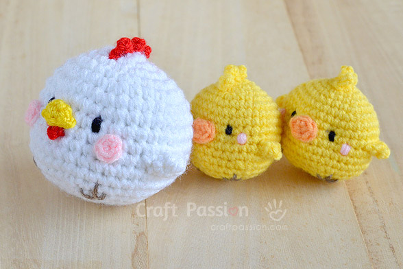 chicken amigurumi pattern