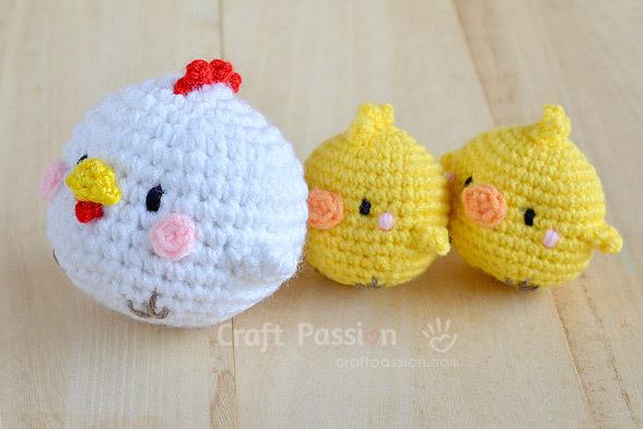 Hen Chicks Amigurumi Free Crochet Pattern Craft Passion