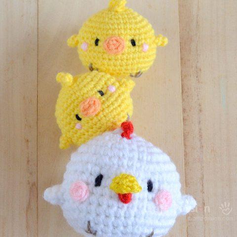 Crochet Chicken - Hen & Chicks Amigurumi