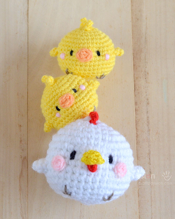 Hen Chicks Amigurumi Free Crochet Pattern Craft Passion