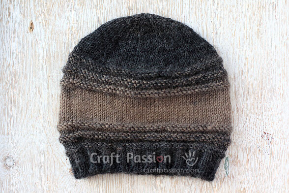 brown ombre beanie hat