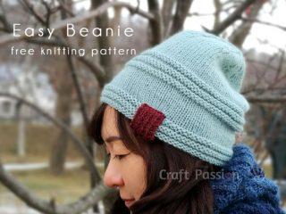 knit easy beanie
