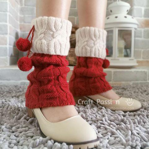 Miss Santa Cuff Leg Warmers Knit Pattern