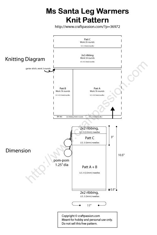 knitting diagram