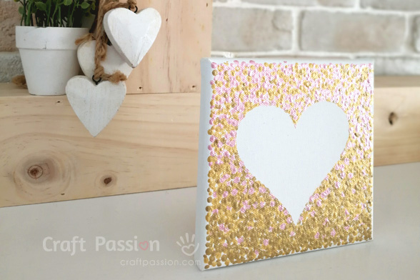 ombre heart wall art