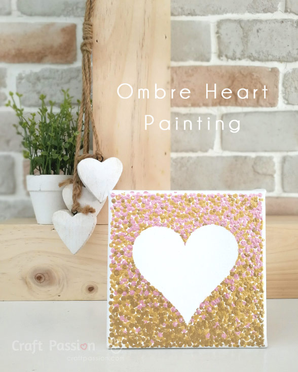 ombre painting valentines