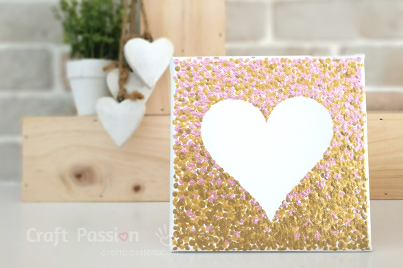 Ombre Heart Painting